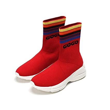 c3da9ffc6f778 Amazon.com : Hy Women's Socks Shoes Fall/Winter New Knit Elastic ...