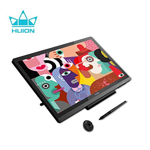 Huion KAMVAS GT-191 V2 Drawing Monitor with HD Screen Battery-free Stylus 8192 Pen Pressure Artist Glove and 20 Pen Nibs - 19.5 Inch