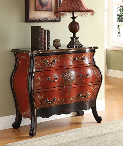 ACME 90016 Iden Bombay Chest, Cherry Finish