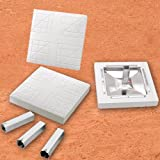 Major League Bases:   Set of 3 w/Ground Anchors