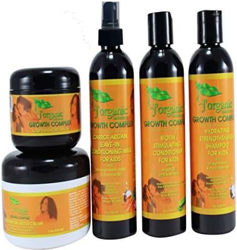 J'Organic Solutions Kids Super Moisturizing, Hydrating healthy hair Growth set