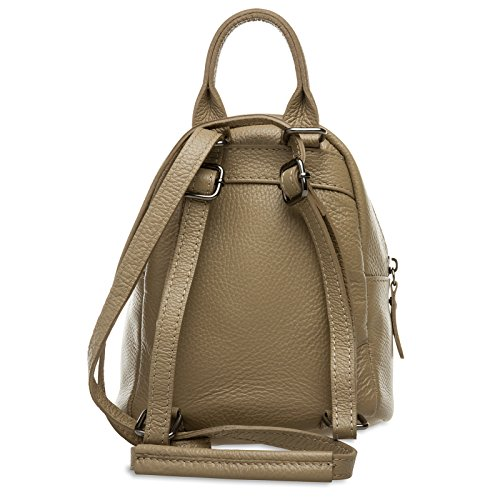 Women made 2 CASPAR of in 1 Backpack Bag City Small Genuine Shoulder Sand TL777 Leather qvqSEwxHX