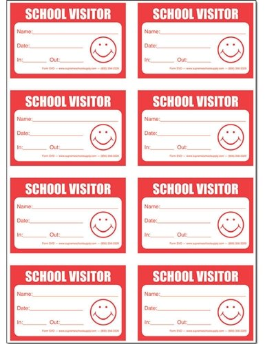 School Visitor Badge Security Stickers Book (240 badges)