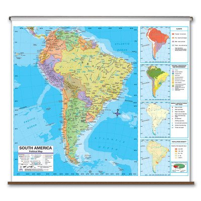 Advanced Political Map - South America