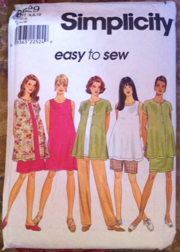 Simplicity Sewing Pattern 8529 Maternity Dress, Top, Skirt & Pants Sizes 6-10 ()
