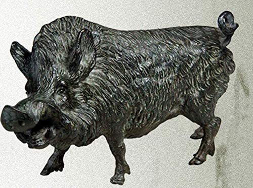MengC 大きい 彫り ケース付き 正月 新年 猪 置物 風水 グッズ 開運 金運 2019 銅製 動物 干支 亥 猪年 縁起 業務用 家庭 飾り