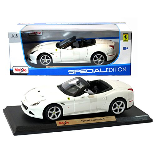 Maisto Year 2015 Special Edition Series 1:18 Scale Die Cast Car Set - White Color Grand Touring Sports Coupe FERRARI CALIFORNIA T (Dimension: 9 x 4 x 2-1/2) by - Edition Special Ferrari