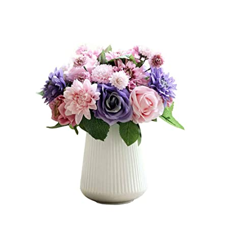 Artificial Flowersfake Flowers Silk Flowers Plastic Wedding Rose
