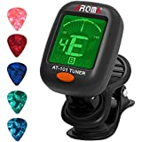 Guitar Tuner Clip-On Vibration Tuning for Chromatic Guitar Violin Ukulele Bass
