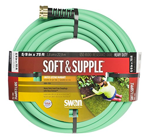 Swan Soft And Supple SNSS58075 5/8-Inch x 75-Foot Green Garden Hose (Hose Swan Water)