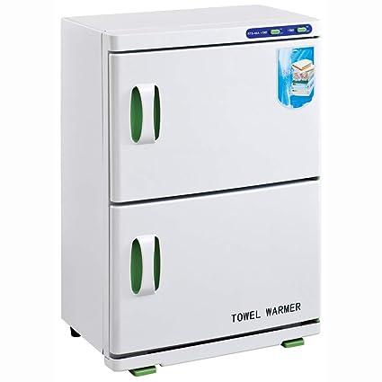 Calentador de Toallas 16L UV Esterilizador de Toallas Caliente Doble gabinete Esterilizador UV Salón de uñas