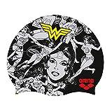 Arena WB Superheros Gorro de natación de Silicona, Mujer Maravilla