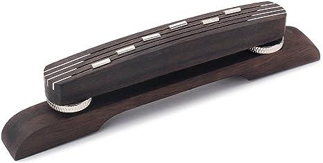 Verchromt Einstellbare Palisander Boden Brücke Saitenhalter für Jazz-Gitarre
