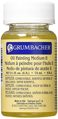 Grumbacher Slow-Drying Medium II for Oil Paintings, 2-1/2 Jar, #5762 by Grumbacher
