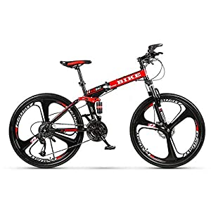 Novokart-Sport Pieghevole/Mountain Bike 24/26 Pollici 3 taglierina, Rosso 10 spesavip