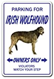 Irish Wolfhound Novelty Sign | Indoor/Outdoor | Funny Home Décor for Garages, Living Rooms, Bedroom, Offices | SignMission Lover Breeder Groomer Sign Wall Plaque Decoration