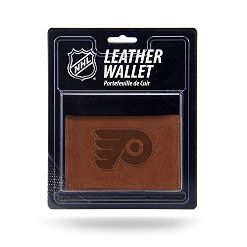 Rico Industries NHL Philadelphia Flyers Leather Trifold Wallet with Man Made Interior ()