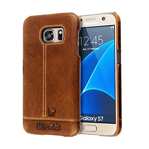 galaxy-s7-casepierre-cardin-premium-genuine-leather-lightweight-slim-snap-on-hard-back-cover-for-sam