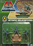 1989 Kenner Mega Force V-ROCS Army Die Cast Attack Helicopters Micro Vehicle Set