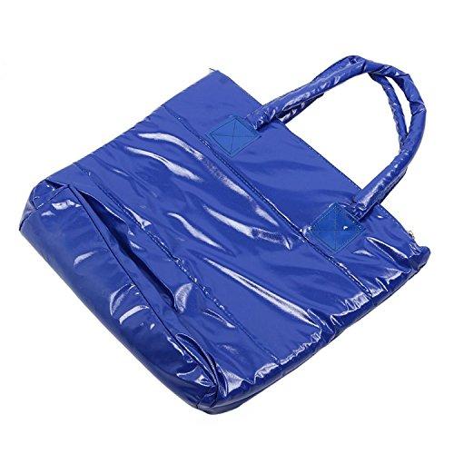 TOOGOO(R) Caldo di vendita Prodotti semplice alla moda Pure spalle Colore Cotton Stripe Inverno della borsa-rosso Blu