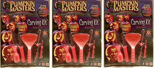 Pumpkin Masters America's Favorite Pumpkin Carving Kit (Pack of 3) ()