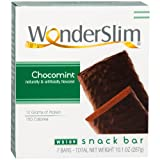 WonderSlim High Protein Snack Bar/Diet Bars - ChocoMint (7ct) - Trans Fat Free, Aspartame Free, Kosher, Cholesterol Free