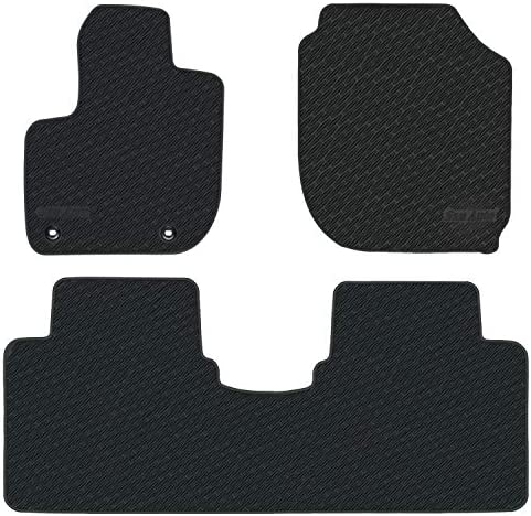 San Auto Car Floor Mats Custom Fit for Honda HR-V 2016 2017 2018 2019 2020 2021 Fit 2015-2020 Full Black Rubber Car Floor Liners Set All Weather Protection Heavy Duty Odorless