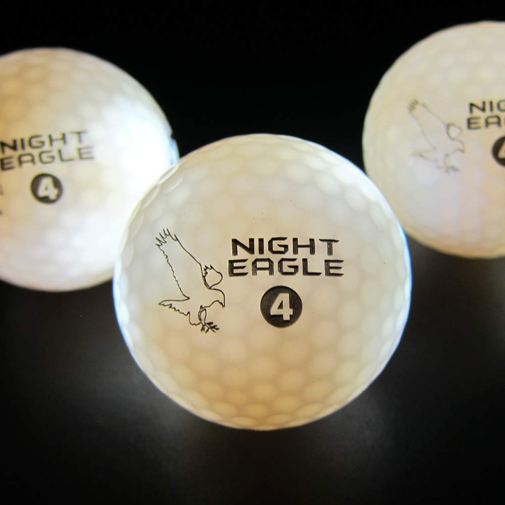 Night Eagle Light Up LED Golf Balls - 6 Ball Pack (White) by Night Eagle