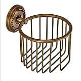 Bathroom Pendant Antique Copper roll Paper Basket Toilet Basket European Paper Towel Lou Bathroom