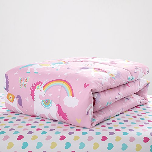 super soft cute fun and whimsical mainstays kids rainbow unicorn with images of unicorns. Black Bedroom Furniture Sets. Home Design Ideas