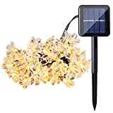 ECOWHO Solar String Lights 50 LED Waterproof Fairy Lights Starry Blossom Flower Lights for Indoor and Outdoor, Patio, Garden, Party, Christmas (Warm White)
