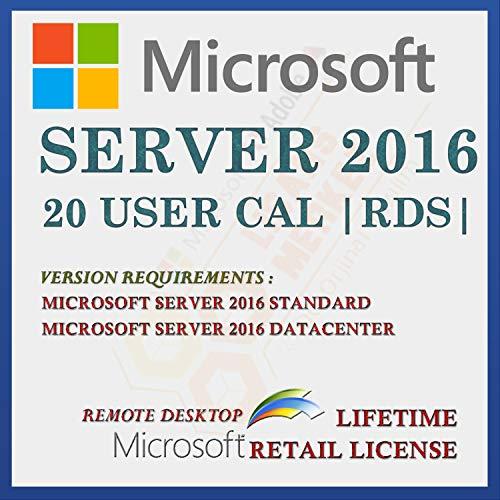 Server 2016 20 CAL Extern bureaublad-gebruikerslicentie | Licentie voor detailhandel | Met factuur | Licentiegegevens en…