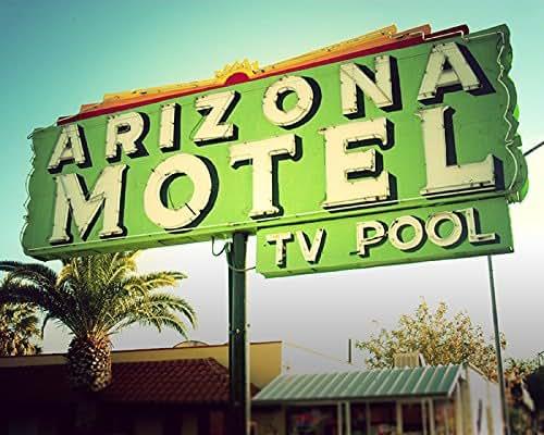 Amazon Com Arizona Motel Bright Neon Retro Roadside