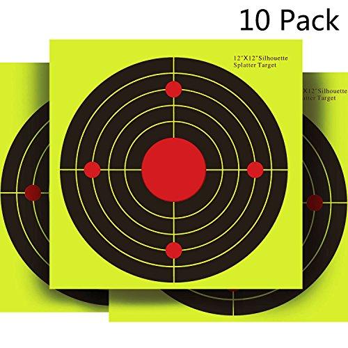 ets Papers 12x12in 10 Pack Yellow upon Impact Gun Rifle Pistol AirSoft BB Gun Air Rifle (12' Round Target)