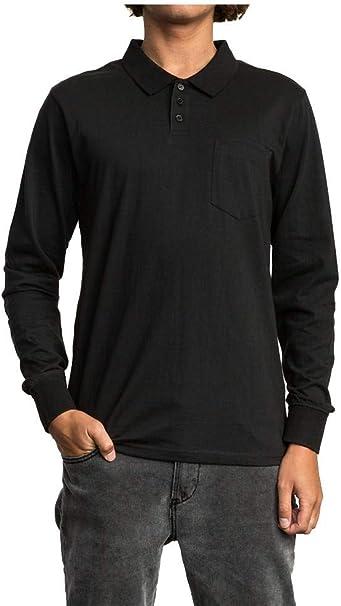 RVCA Mens Hi Grade Long Sleeve Polo Shirt: Amazon.es: Ropa y ...