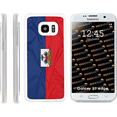 Rikki Knight Haiti Flag Design Samsung Galaxy S7 Edge Case Cover (Clear Rubber with front Bumper Protection) for Sales