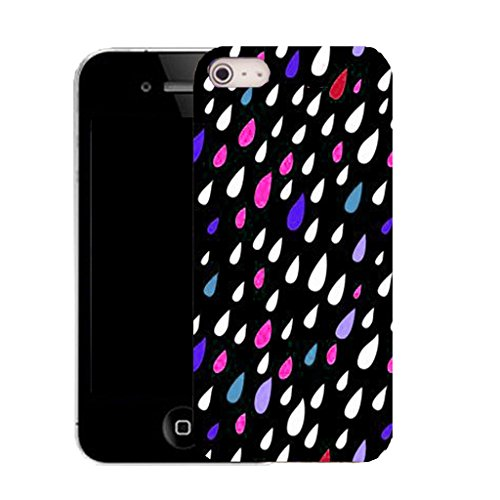 Mobile Case Mate IPhone 4 clip on Silicone Coque couverture case cover Pare-chocs + STYLET - multi droplet pattern (SILICON)