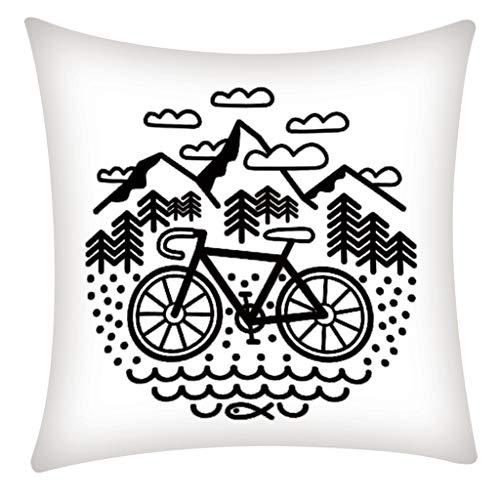 QBQCBB Pillow Case Polyester Fiber Cushion Sofa Car Cushion Cover Home Decoration 45x45cm(E)