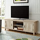 WE Furniture AZ70CS2DWO TV Stand, White Oak