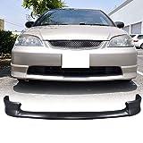 01-03 Honda Civic 2/4 Door XM Style PU Add-On Front Bumper Lip Spoiler Bodykit