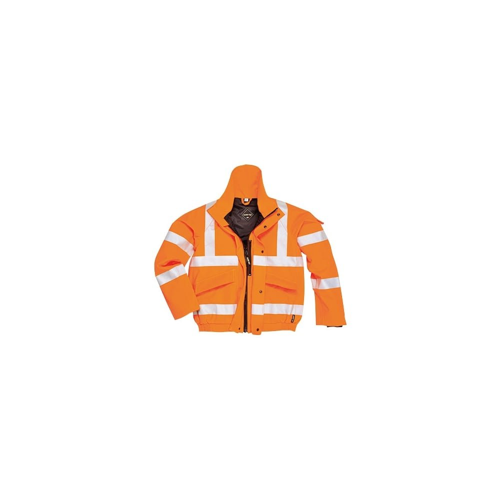 Portwest GT23ORRXXL Series GT23 Gore-Tex Bomber Jacket, Regular, Size: 2X-Large, Orange Portwest Clothing Ltd