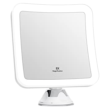 KEDSUM 8X Magnifying LED Lighted Makeup Mirror 63quot Wide Travel With Lights And