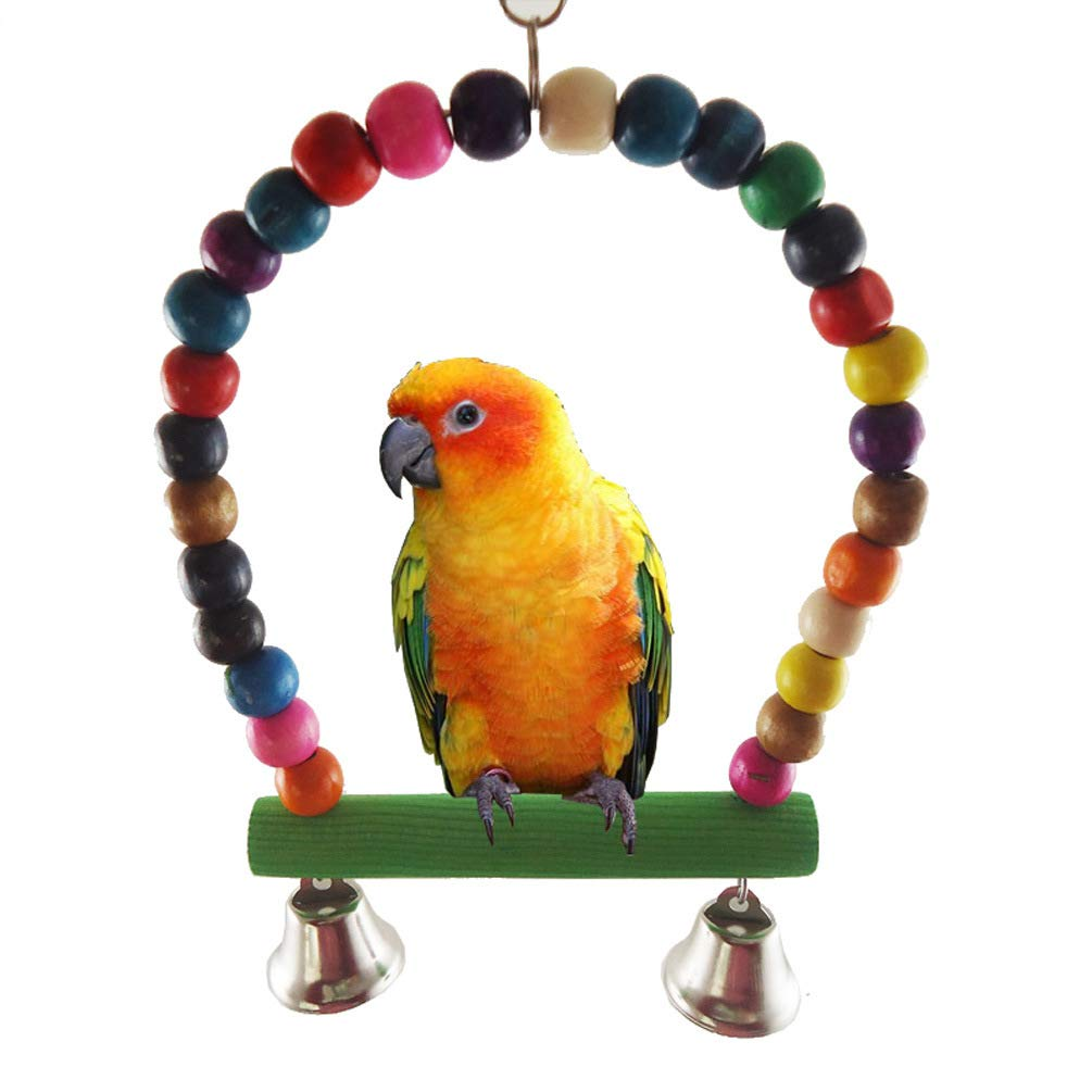 Cydnlive Parrot Toys,Parrot Bird Bells,Bird Toy Parrot Cage Toys,Cages Chew Toy for Parrot Bird Cage Toy