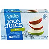 Capri Sun 100% Juice, Apple, 6 oz, 10 ct.