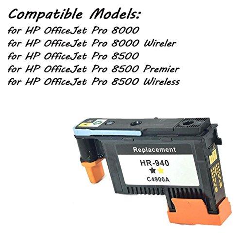 Reman HP 940 Black/Yellow Print Head C4900A, Tuscom PRINT HEAD HP940 PRINTHEAD C4900A & C4901A For HP OfficeJet Pro 8000 8500