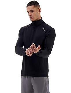 WHCREAT Mens Sports Shirt Half Zip Long Sleeve Running Pullover Hoodie