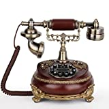CHX Telephone European Style Classical Craft Antique Telephone Retro Home Landline Telephone (Color : A, Size : L25CMW20CMH23CM)