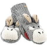 Old Glory - Unisex-adult Dwayne The Donkey Knit Mittens Grey