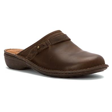 UGG Women's Bridgen Dark Chestnut Leather Clog/Mule