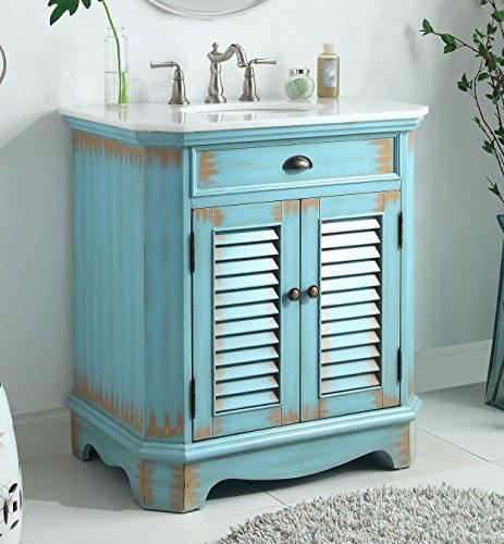 """32"""" Fairfield Rustic Blue Bathroom Sink Vanity 47884BU"""